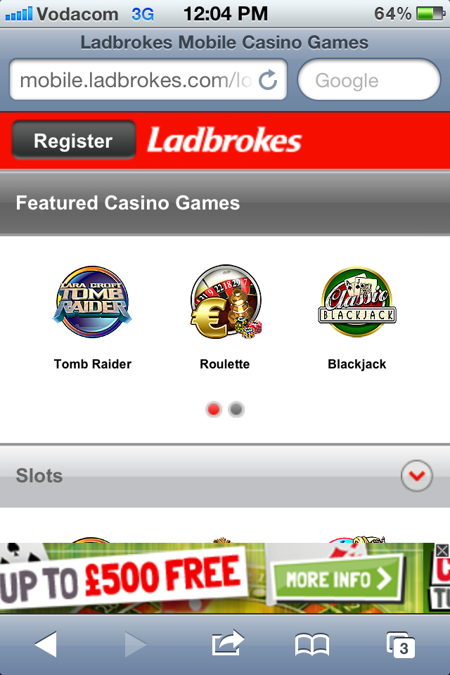 How to play at Ladbrokes Mobile - Step2