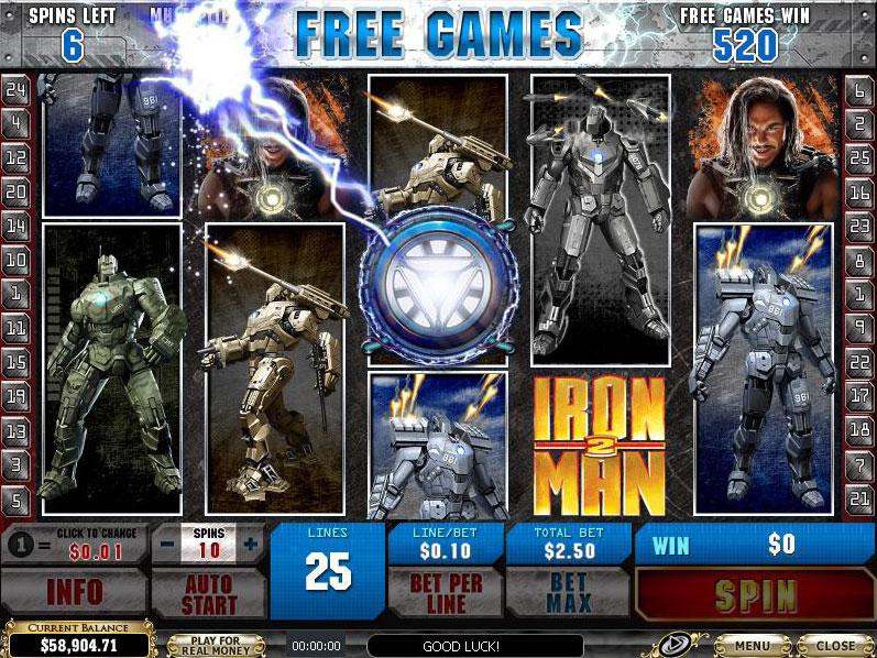 Iron Man 2 Free Spins Bonus Round