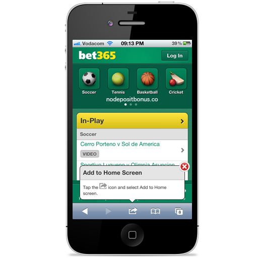 How to play at Bet365 Mobile - Step2